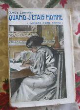 bibliophilie Quand j'étais homme Lemonnier EO 1/10 sur Hollande envoi à Uzanne