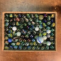 Mixed Lot of Roughly 80+ Vintage Glass Marbles