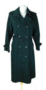 London Fog Woman's Black Rain Over Coat Size 14P Petite Removable Liner NWOT