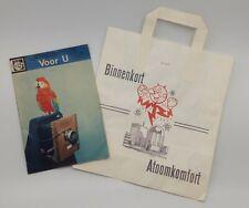 Reddy Kilowatt rare Belgian paper promo bag 1953 nuclear power + magazine 1965