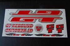 GT Rebound Stickers Red, Silver & Black.