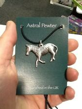 SILVER PENDANT ASTRAL PEWTER  ZEBRA  NECKLACE HAND CRAFTED UK  BRAND NEW