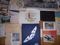 Original WWII Bomber Pilot Grouping Flight Log Photos ID Dog Tag Yearbook Flight