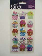 STICKO STICKERS  - ELECTRIC CUPCAKES cakes baking bright metallic