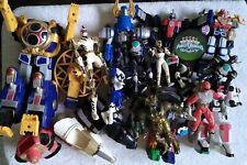 HUGE Saban Mighty Morphin Power Rangers Action Figure Lot Zords Aliens