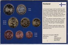 Finland set 8 coins 1 2 5 10 20 50 Cent 1 2 Euro 2005 - 2007 UNC in blue booklet