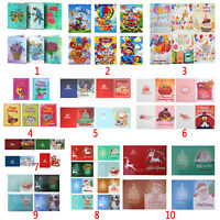 5D DIY Christmas Greeting Cards Diamond Painting Embroidery Cross Stitch Kits