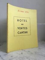 Catálogo De Venta Hotel Las Venta Cantini Artículo de Arte 2 Mars 1973