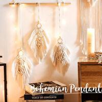 Nordic Leaves Tassel Cotton Woven Bohemian Hanging Tapestry Decorative Pendant