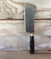 Vintage Wood Handle Cleaver - Marked