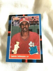 1988 LANCE JOHNSON ST LOUIS CARDINALS #31 DONRUSS 88 RATED ROOKIE MLB CARD EXC