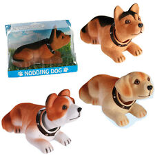 NODDING DOG HEAD MOVING BOBBLE FOR CAR HOME OFFICE NEW DASHBOARD SOUVENIR GIFT