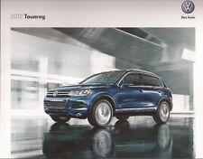 2012 12 VW Touareg oiginal  brochure MINT