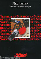 1013SCH Schuco Neuheiten Herbst Winter 1998/1999 Prospekt Modellautos brochure