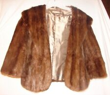 Vintage Brown Beaver Fur Stole Wrap Jacket in a size small or medium ~ Timeless
