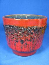 "70´s design  "" Fat Lava "" Kreutz Keramik flowerpot planter Blumen Übertopf 14 cm"