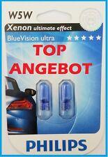 2x PHILIPS W5W T10 Standlichtbirnen Standlicht mit XENON OPTIK WEISS