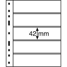 333229 Leuchtturm Hüllen OPTIMA 5S, 5er Einteilung, schwarz, 10er Packung