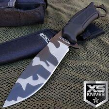 "10"" URBAN CAMO TACTICAL Fixed Blade SURVIVAL Full Tang COMBAT KNIFE W/ Sheath"