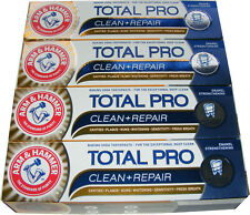 4 TUBES OF ARM AND HAMMER TOTAL PRO CLEAN & REPAIR TOOTHPASTE WITH BAKING SODA