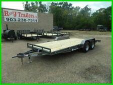 83 x 18 18ft Race Car Hauler Drag UTV Side ATV Open Show Utility Cargo Trailer
