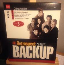 COMPUTER SOFTWARE BACKUP DANTZ RETROSPECT CLIENTS BACKUP 6.5 NEW IN BOX