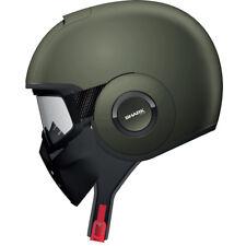 Shark Raw Blank Mat Motorcycle Helmet XS Matt Green Jet Open Face Lid GhostBikes