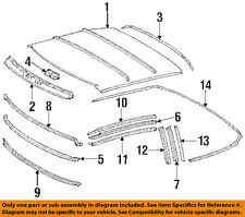 Mercedes MERCEDES-BENZ OEM Convertible/soft Top-Weatherstrip Seal 1297703298