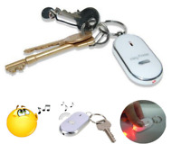 1pc Anti Lost Keychain Sound Voice LED Locator Whistle Control Key Finder Rings
