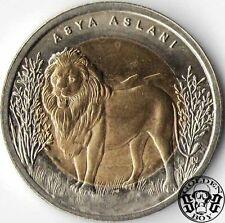 """Turkey 1 lira 2011 """"Lion""""  UNC"""