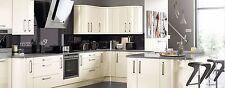 Cream High gloss replacement kitchen doors / Lusso Cream