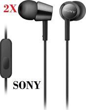 2x (2 PAIRS) Sony Genuine MDR-EX155AP Earbuds Headphones MDREX155AP BLACK