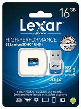Lexar 16GB 633x 95MB/s Micro SDXC MicroSD Class10 UHS-I USB3.0 Card Reader GoPro