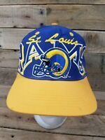 Rare Vintage TEAM NFL St. Louis Rams Helmet Logo Snapback Hat Cap 90s 2000s