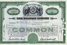 Erie Railroad Co. Stock Certificate 1949