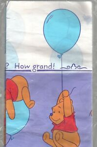 """Winnie the Pooh Birthday Party Tablecover Hallmark 54"""" x 89"""" Paper Grand Day"""