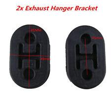 2x Universal Vehicle Exhaust Pipe Mount Repair Rubber Bracket Hanger Replacement