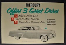 1952 Mercury Transmission Brochure Custom Monterey Excellent Original 52