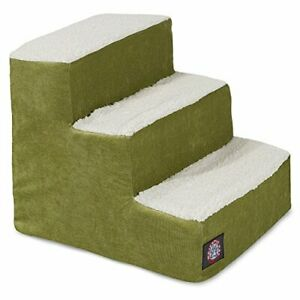 3 Step Portable Pet Stairs By Majestic Pet Products Villa Apple Steps for Cat...