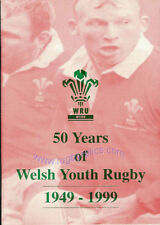 50 YEARS OF WELSH YOUTH RUGBY BOOKLET 1949 - 1999 WALES