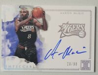 2018-19 Panini Impeccable Aaron McKie on Card Auto /99 Philadelphia 76ers