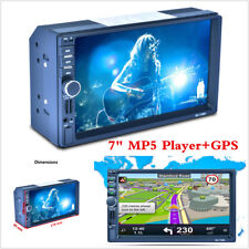 "Car 7"" Double 2DIN Touch Screen MP5 Player Bluetooth Radio Stereo+GPS Navigation"