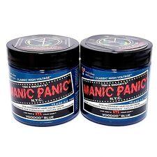 Manic Panic Semi-Permanent Hair Color Dye - Voodoo Blue (4 fl.oz) *2 Set*