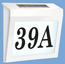 SOLAR POWERED STREET NUMBERS FOR HOUSE OR OFFICE 3 number white