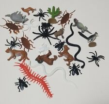 Collection Of Plastic Desert Toy Animal Figures, Bugs Snakes And Lizards
