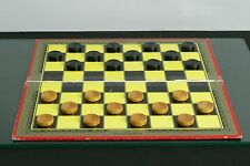 Wooden Draughts/Checkers Board & Traditional Games