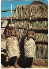 CARTE POSTALE AFRIQUE BASUTOLAND ENFANTS BASUTOS PARES POUR L INITIATION