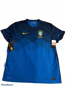 Nike Men's 2020-21 Brazil Vaporknit Away Jersey Blue CD0597-427 Sz 2XL