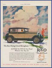 Vintage 1927 REO Flying Cloud Brougham Automobile Car Flapper Art 20's Print Ad