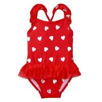 NWT Gymboree Fairytale Forest Heart Print Girls Red Tutu Swimsuit 2T 3T 4T 5T